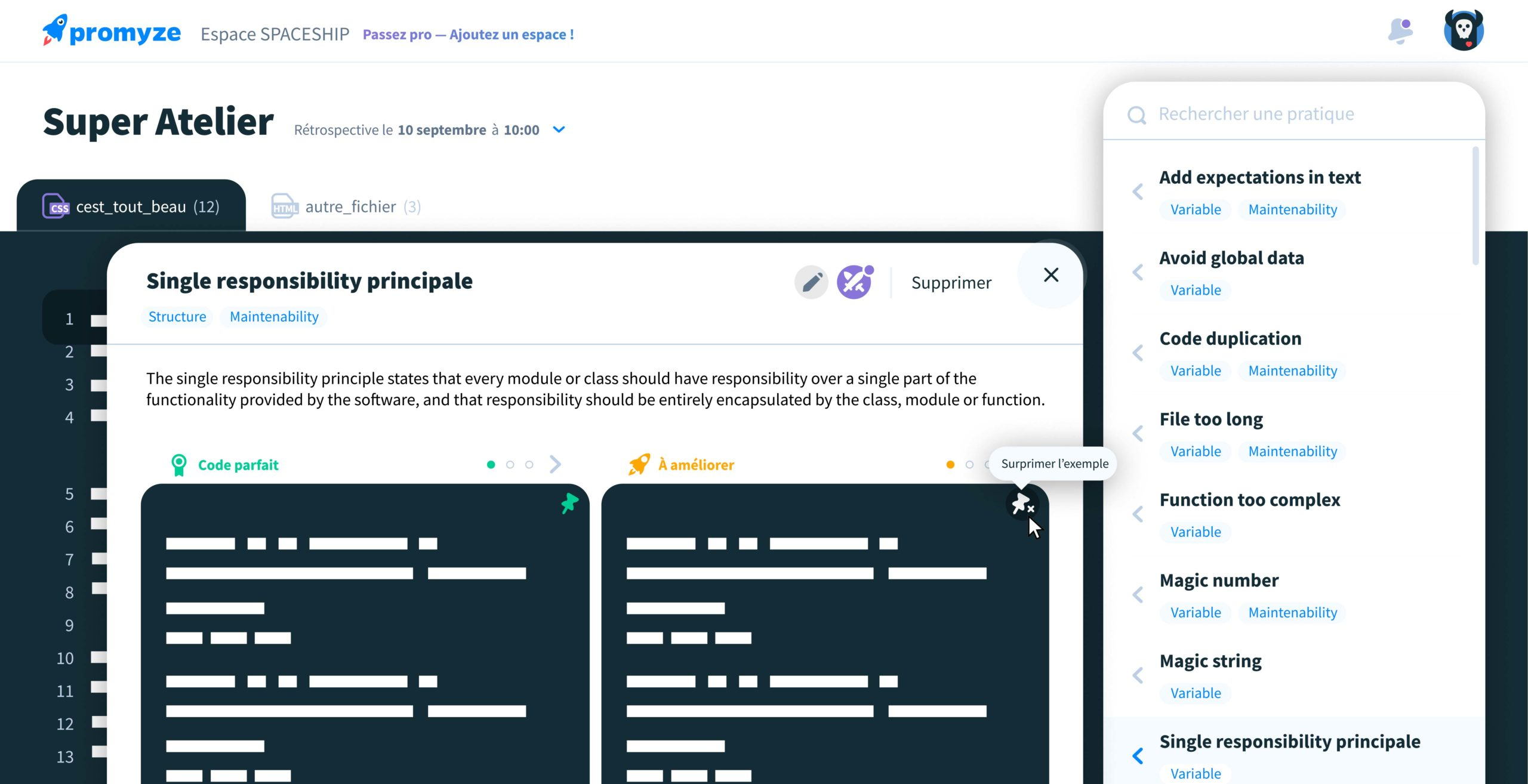 Promyze, the self-hosted collaborative solution to help you control your projects' technical debt and perpetuate your applications.
